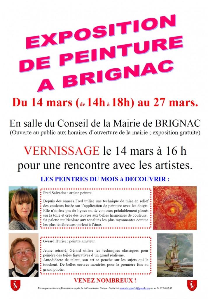 mini affiche expo peinture Brignac