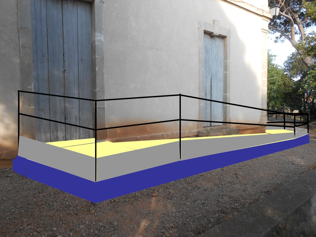 rampe d'accès mairie avec bandeau 2