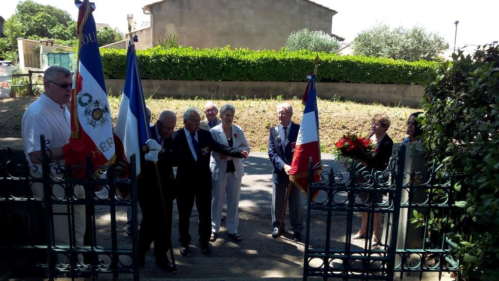 Société  des membres de la Légion d'Honneur de l'hérault 18 juin 15 Brignac