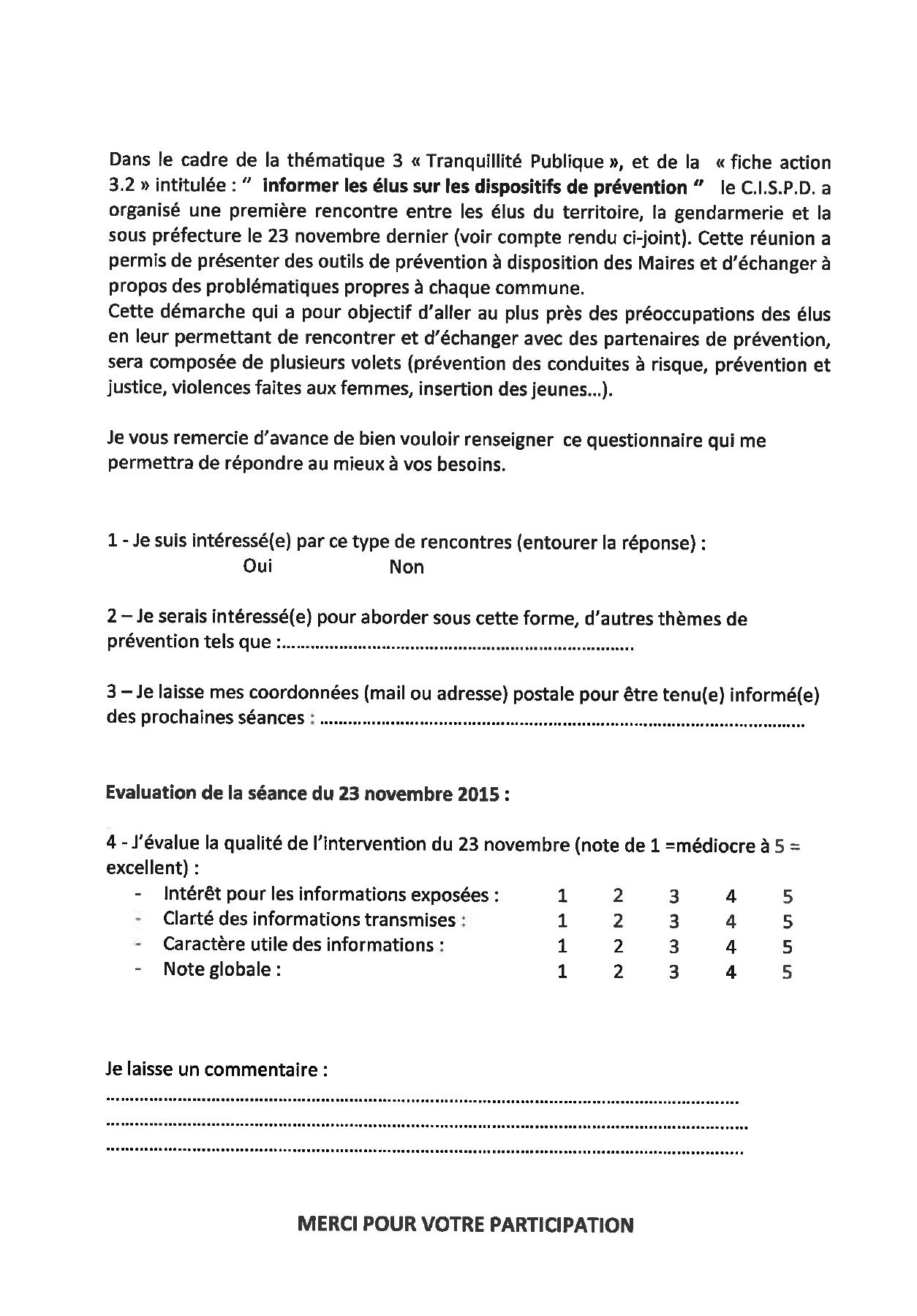 Questionnaire CISPD