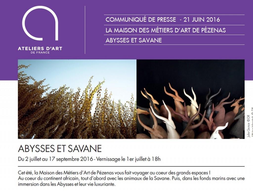 Maison des métiers d'art expo abysses et savane