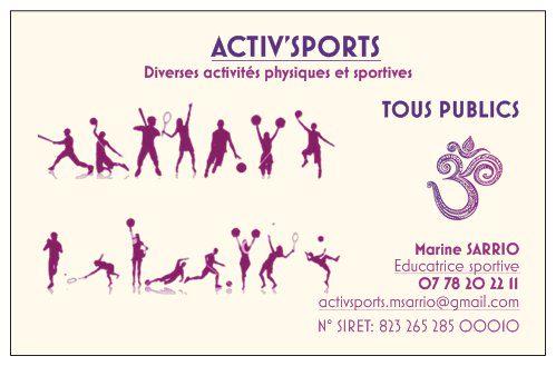 carte de visite ACTIV'SPORTS